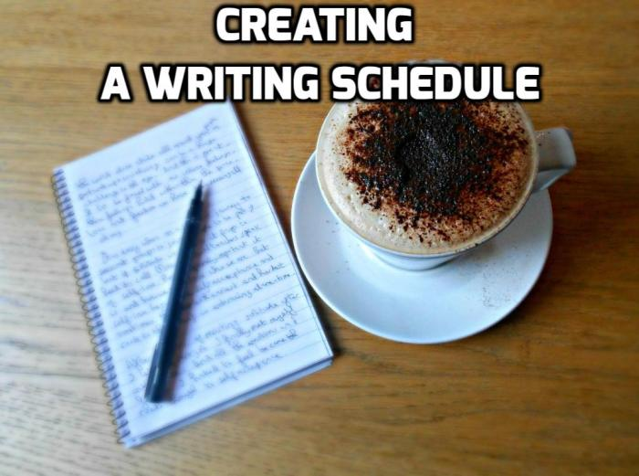 Monday Musings- How To Create A Writing Schedule